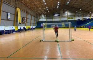 Entrenamiento del Ceutí en el polideportivo La Libertad