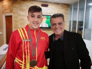 Ismael Vázquez, junto a Antonio León, este lunes en RTVCE