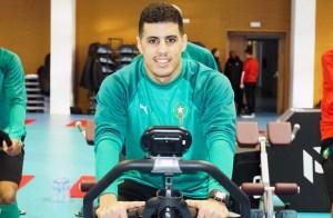 Hamza, durante su anterior concentración con la selección de Marruecos