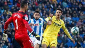 Un lance del Real Sociedad-Villarreal de este domingo