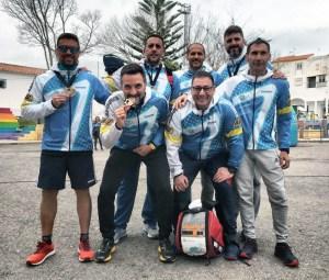 Los integrantes del CD San Urbano tras finalizar con éxito el II Trail de Manilva