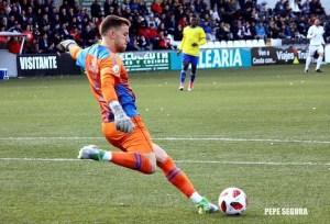 Iván Villanueva, en su etapa como portero de la AD Ceuta FC