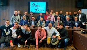 Rubiales y Lozano, este miércoles junto a representantes de algunos de los clubes de la ciudad