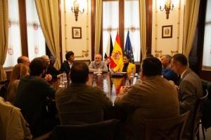 Un momento de la reunión de este miércoles en Ceuta