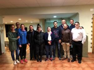 Miembros de la junta directiva de la Federación de Tenis de Ceuta