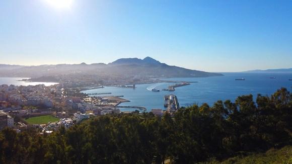 Vista de Ceuta desde el Monte Hacho