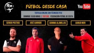 Cartel anunciador de la segunda tertulia 'Fútbol desde Casa' de la FFCE
