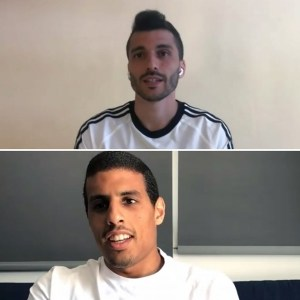 Lolo y Hamza, este martes durante su comparecencia telemática para hablar sobre sus renovaciones