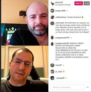 Un momento del directo en el Instagram de la AD Ceuta FC