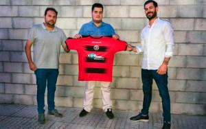 Alejandro Álvarez, con la camiseta del Gerena