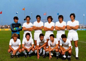 Un once inicial del equipo ceutí aquella temporada en el Alfonso Murube