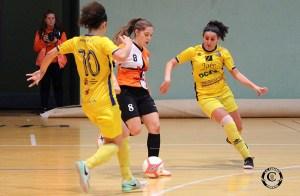 Claudia Navas, durante un partido de la pasada temporada