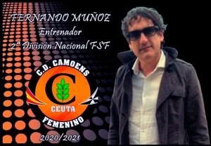 Fernando Muñoz, anunciado como nuevo entrenador del CD Camoens
