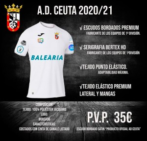 Joma pretende ser la nueva marca deportiva del Ceuta
