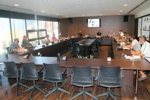 Una imagen de la reunión de este miércoles en la 'Ciudad del Fútbol' de Ceuta