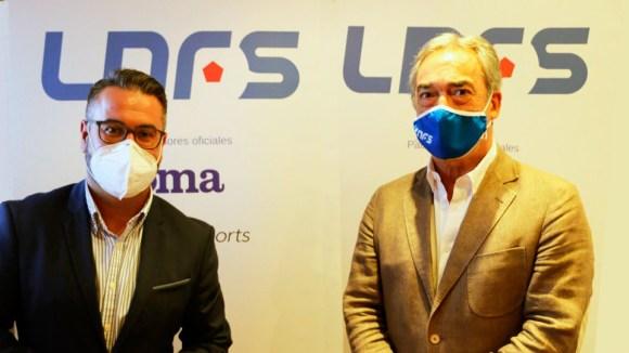 Javier Merino (PP) y Javier Lozano (LNFS), antes de la reunión