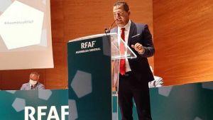 Pablo Lozano, durante su intervención de este sábado en la asamblea de la RFAF