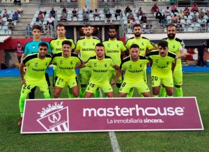 Formación de la AD Ceuta FC en el Nuevo Mirador de Algeciras en esta pretemporada