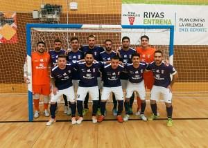 Formación del Ceutí la pasada temporada en la pista del Rivas