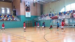 Un momento del partido disputado por el Ceutí ante su filial en el pabellón 'Guillermo Molina'