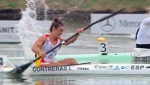 Isa Contreras, en pleno esfuerzo durante la final de la Copa del Mundo de Szeged