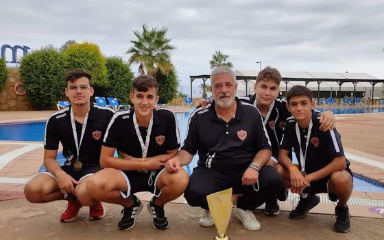 Los integrantes del CP José Zurrón, subcampeones de España de Tripletas de Clubes Juveniles