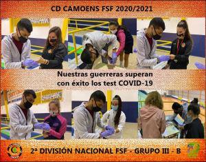 Cuerpo técnico y jugadoras del Camoens pasaron con éxito los test de coronavirus