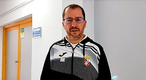 José Juan Romero, este sábado en los vestuarios del estadio Iberoamericano