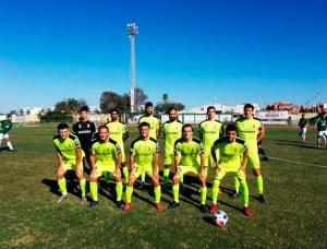Formación de la AD Ceuta FC, este domingo en Rota