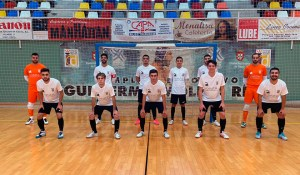 Formación de la UA Ceutí B, antes de medirse este sábado al Jerez Futsal en el 'Guillermo Molina'
