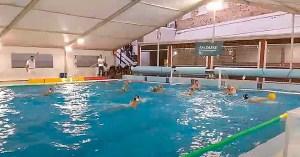 Una imagen del partido disputado este sábado en la piscina del CN Caballa