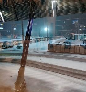 Imagen difundida por el CW Castelló desde el aeropuerto de Barajas