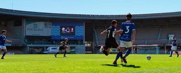 Imagen del partido perdido el pasado domingo por el Ceuta en Xerez DFC