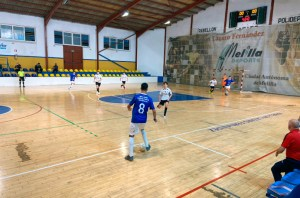 Una imagen del partido disputado este viernes en el pabellón 'Lázaro Fernández' de Melilla