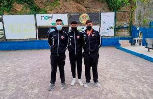Tripleta senior masculina ganadora