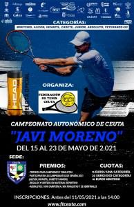 Cartel anunciador del Campeonato Autonómico de Tenis 2021
