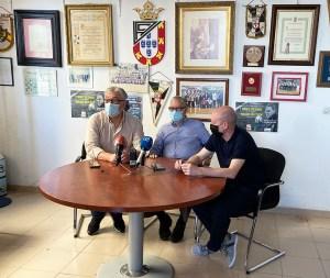 Escane, Fernández Prieto y Valladares, durante la rueda de prensa de este lunes