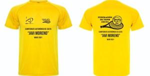 Camiseta que entregará la organización a todos los participantes en este Campeonato Autonómico