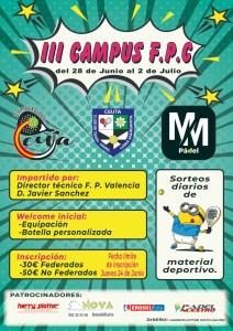 Cartel del Campus de Pádel