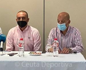 Luhay Hamido (i), junto a Mohamed Chaib