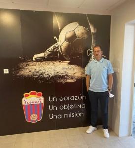 JJ Romero, en la sede del Eldense
