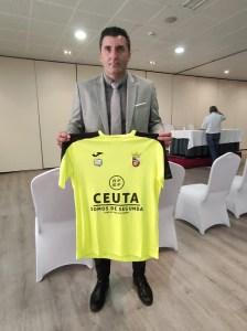 Villegas, tras su presentación como nuevo director deportivo de la AD Ceuta FC