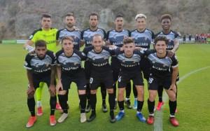 Formación inicial del Ceuta este martes en el Marbella Football Center