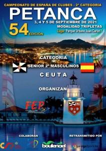 Cartel anunciador del Campeonato de España de Tripletas