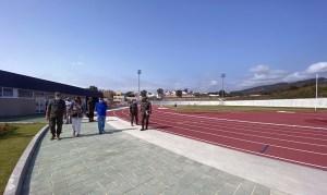 Un momento de la visita a la instalación construida en Loma Margarita