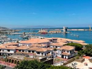 La flota llegando a Ceuta este miércoles por la tarde