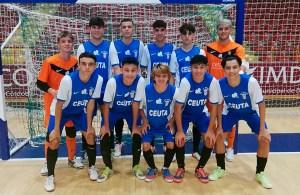 Formación del Deportivo Ceutí, este domingo en el pabellón Vista Alegre de Córdoba