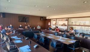 Un momento de la reunión celebrada este jueves en la sede de la FFCE / Foto: FFCE