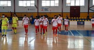 Jugadores del CD Puerto, este sábado en el pabellón 'Lázaro Fernández'