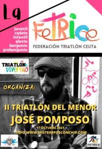 Cartel anunciador del II Triatlón del Menor 'José Pomposo'